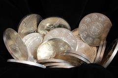 Silver treasure Stock Image