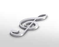 Silver treble clef Stock Photos