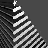 Silver Tree. Contemporary silver christmas tree on black Stock Photos