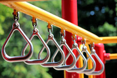 Silver Triangles in the Playground Stock Photos