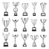 Silver trophies Royalty Free Stock Photos