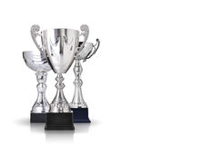 Silver trophies Royalty Free Stock Photo