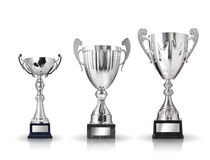 Silver trophies. Royalty Free Stock Photography