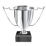 Silver_trophy. A shiny silver trophy representing icon of success, victory and award or reward Royalty Free Stock Images