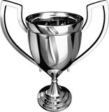 Silver Trophy 3D Stock Photos
