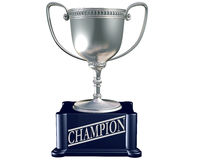 Silver trophy for the champion Stock Photo