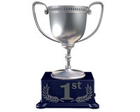 Silver trophy for coming first Stock Photos