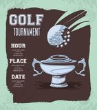 Silver trophy golf tournament stock illustration