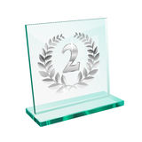 Silver trophy for second Stock Photo