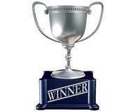 Silver trophy for the winner Royalty Free Stock Photography