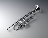 Silver trumpet Stock Photos