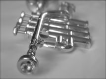 Silver Trumpet II Royalty Free Stock Photos