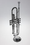 Silver trumpet Royalty Free Stock Image