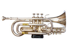 Silver Trumpet Stock Photography