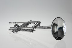 Silver trumpet Royalty Free Stock Photography