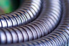 Silver tube detail Stock Photo