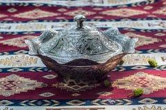 Silver Turkish recipient Stock Photo