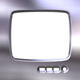 Silver TV Frame Royalty Free Stock Photo