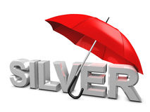 Silver umbrella Royalty Free Stock Image