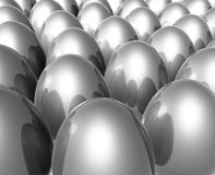 Silver unique easter egg Stock Image