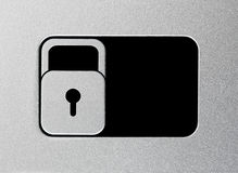 Silver unlock slider Stock Images