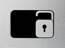 Silver unlock slider Stock Photography