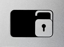 Silver unlock slider Stock Photography