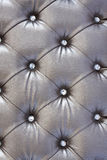 Silver  upholstery pattern Royalty Free Stock Image