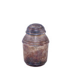 Silver urn. Ancient silver urn for ashes isolated over white background Royalty Free Stock Photos