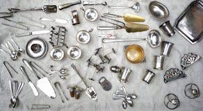 Silver utensils Stock Photos