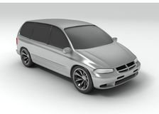 Silver car stock illustration