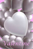 Silver Valentine. Silver hearts  to be used as a background Stock Photography