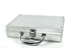Silver valise Royalty Free Stock Photography