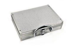 Silver valise 2 Stock Photo