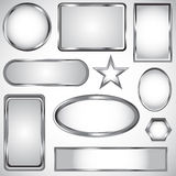 Silver vector label collection Stock Photo