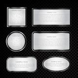 Silver vector label collection Royalty Free Stock Photos