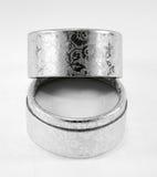 Silver velvet box Royalty Free Stock Photography