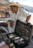 Silver Vendor Playa Las Estacas Mexico Stock Photography