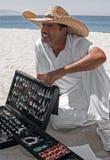 Silver Vendor Playa Las Estacas Mexico Royalty Free Stock Images
