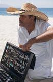 Silver Vendor Playa Las Estacas Mexico royalty free stock photo