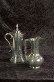 Silver Vessels. 2 silver vessels used in various services of worship Stock Images