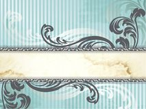 Silver Victorian Vintage Banner, Horizontal Royalty Free Stock Photography