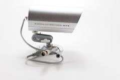 Silver video surveillance camera Royalty Free Stock Photography