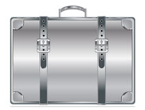 Silver vintage briefcase Stock Photos