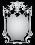 Silver vintage frame Stock Image