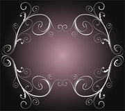 Silver vintage frame Royalty Free Stock Images