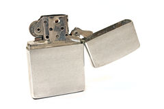Silver vintage lighter Stock Photo