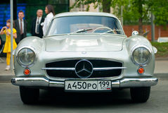 Silver Vintage Mercedes stock photography