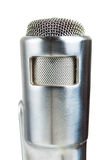 Silver Vintage Microphone on white. Stock Photos