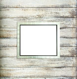 Silver Vintage picture frame on old wood Royalty Free Stock Photo